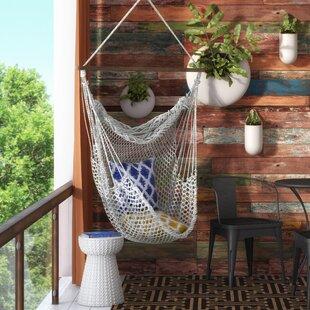 hawkins cotton rope chair hammock hammocks you u0027ll love   wayfair  rh   wayfair