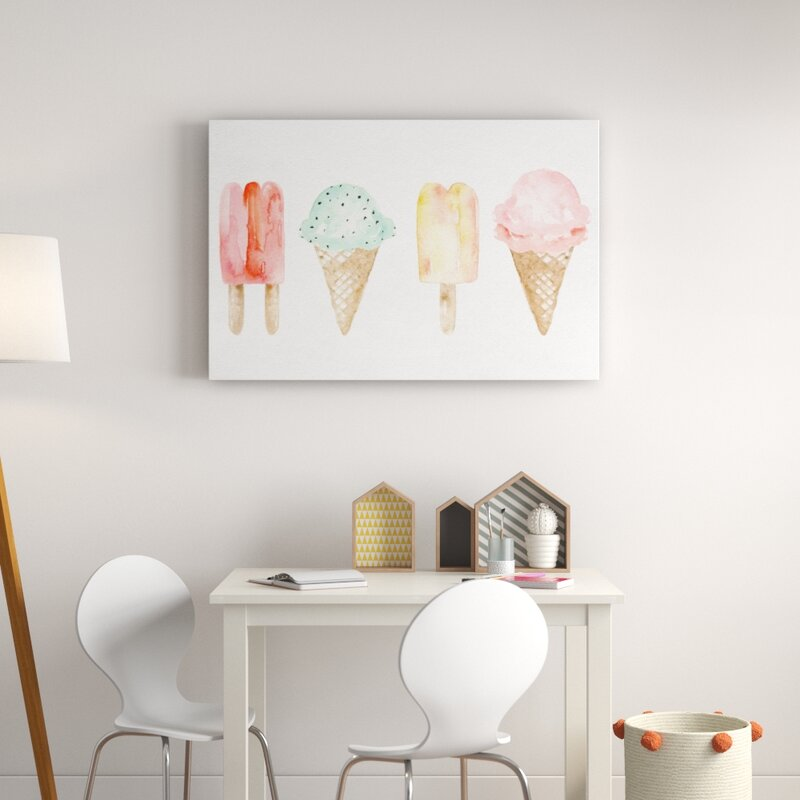 Amenta Ice Cream You Scream Canvas Art