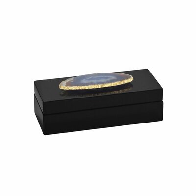 Bungalow Rose Agate Lacquered Accessory Box Size: Small