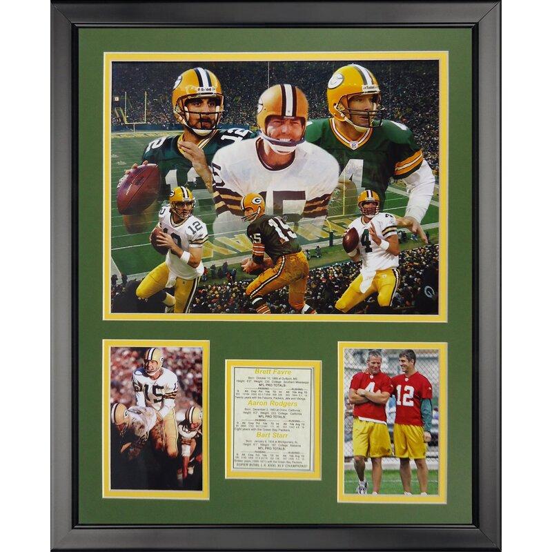 Legends Never Die NFL Green Bay Packers - Packer Quarterbacks Framed ...