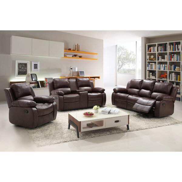 3 Piece Reclining Living Room Set Living In Style Reno 3 Piece Living Room Set & Reviews  Wayfair