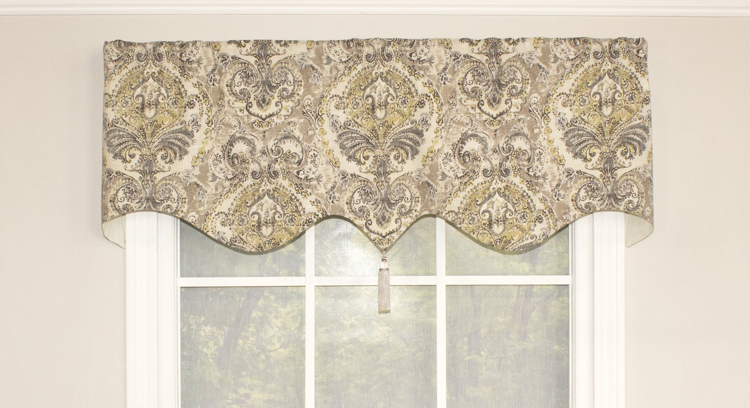 beige curtains floral velvet sheers color and chenille waterfall baltic swag valance brown embroidered pair