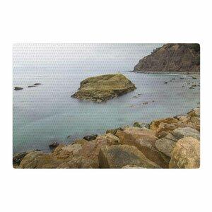Nick Nareshni Rock Above Water Blue/Brown Area Rug