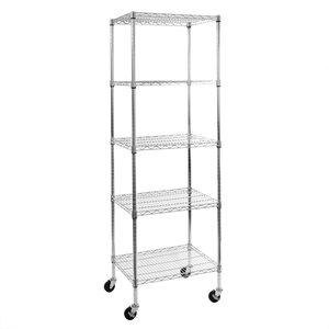5-Tier UltraZincu2122 NSF Steel Wire Shelving with Wheels