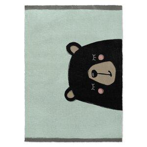 Bear Black/Green Area Rug