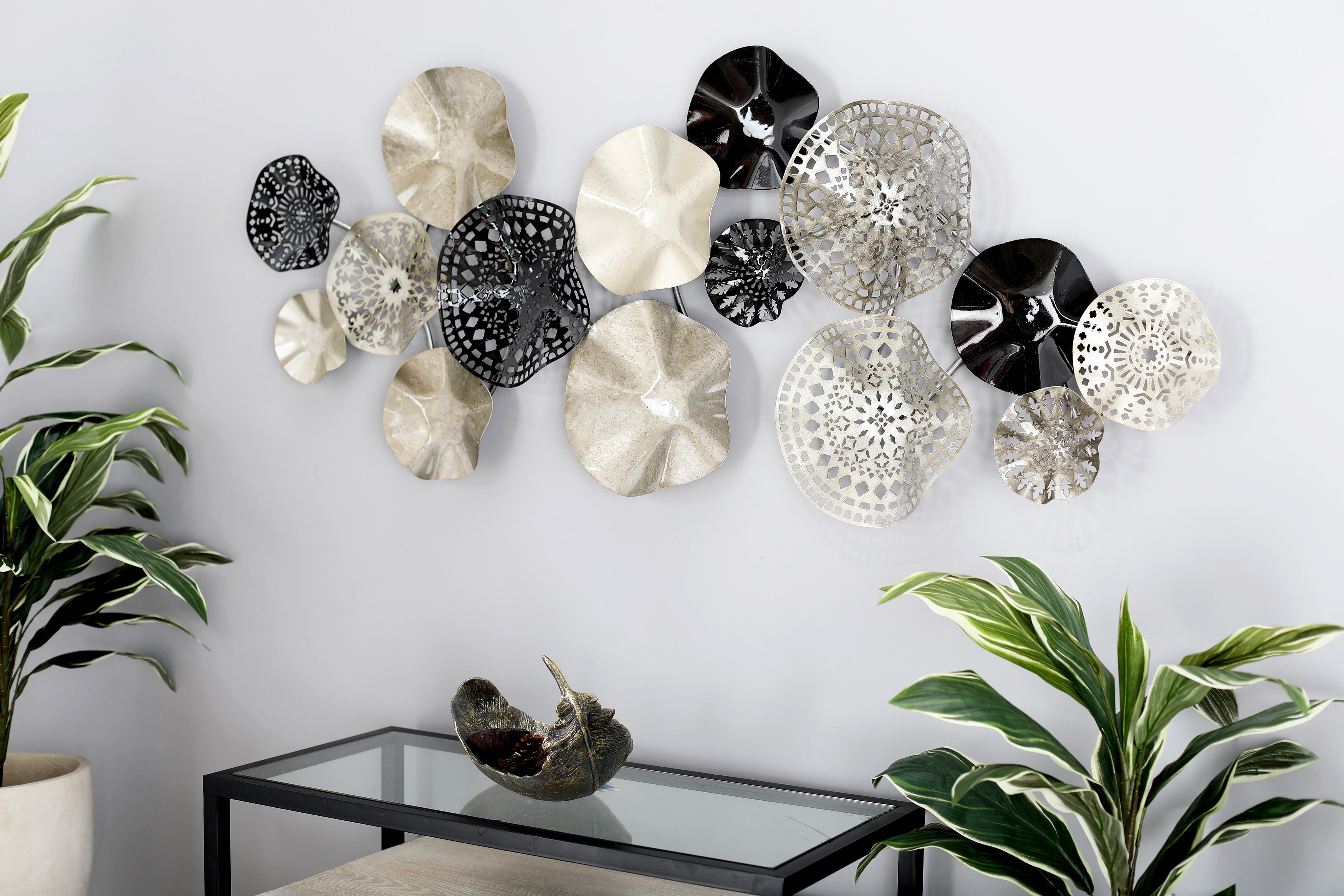 Bloomsbury market contemporary solid floral disc montage wall decor reviews wayfair