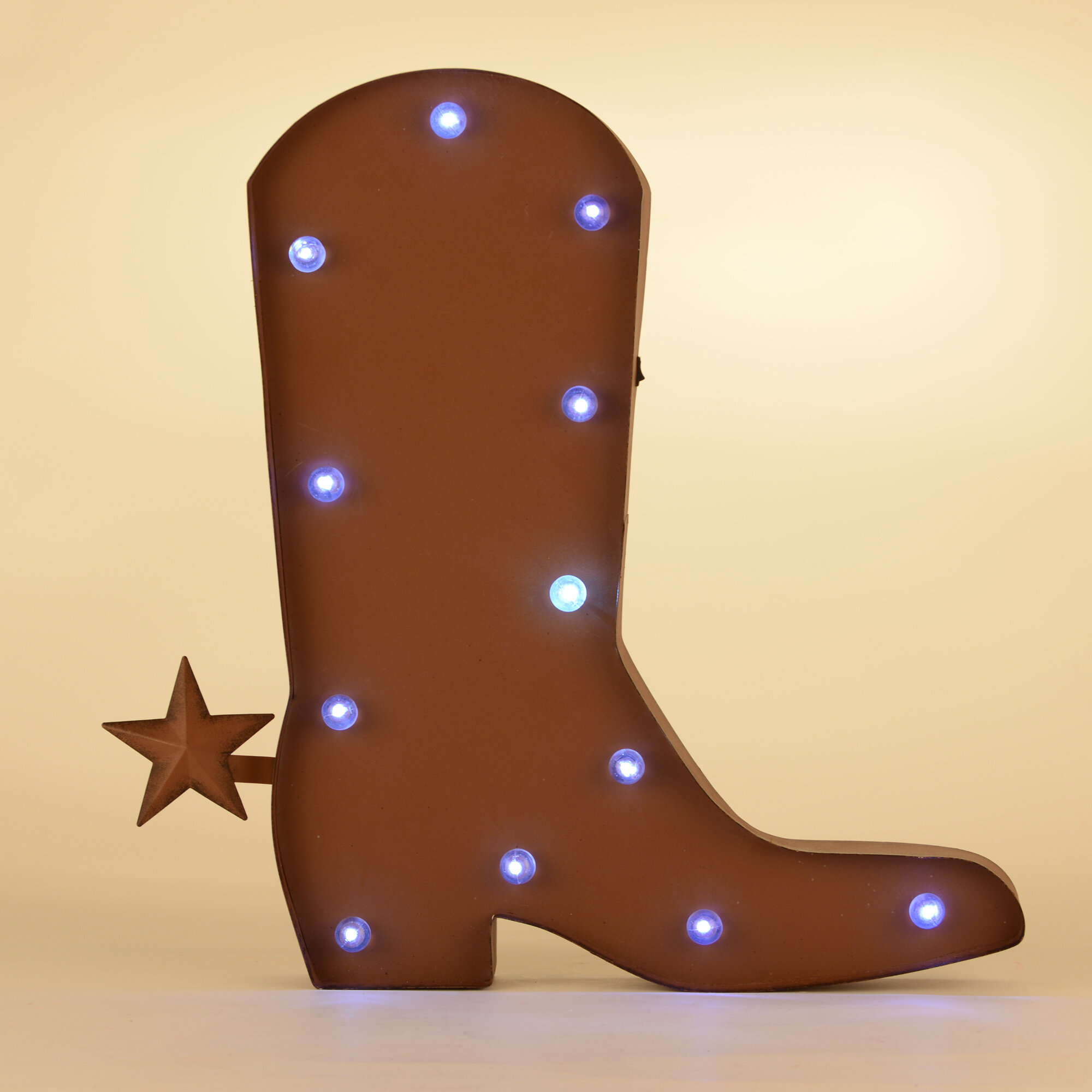 Glitzhome rustic marquee led lighted western cowboy boot sign wall glitzhome rustic marquee led lighted western cowboy boot sign wall dcor reviews wayfair floridaeventfo Images