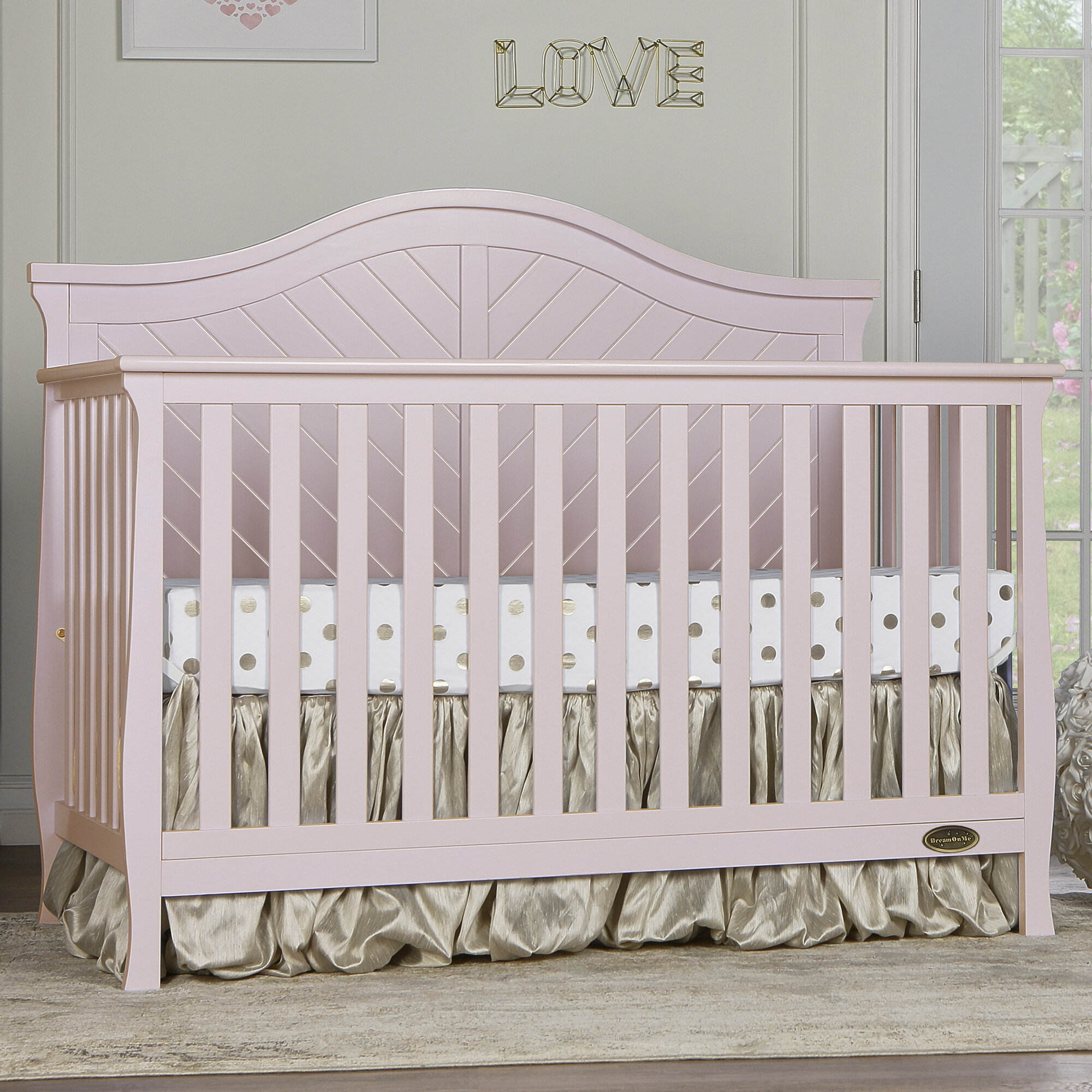 walmart crib gray with table huntington in com n cribs changer changing ip fisher price