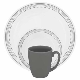 Livingware 16 Piece Dinnerware Set Service for 4  sc 1 st  Wayfair & Lightweight Dinnerware Sets | Wayfair