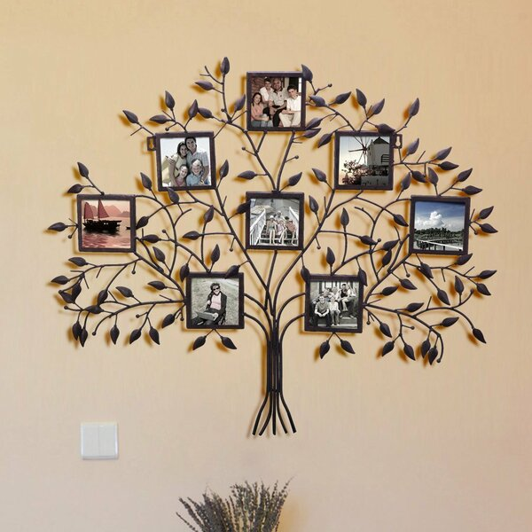 Andover Mills 8 Opening Decorative Family Tree Wall Hanging Collage