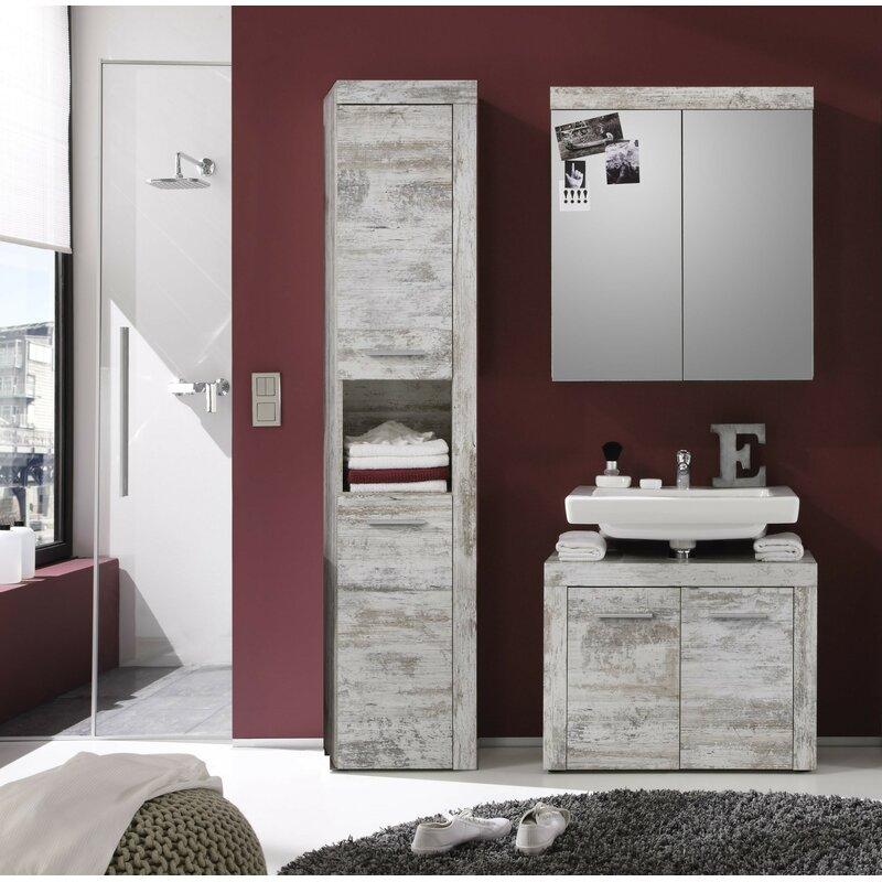 Mercury Row Partone 3 Piece Bathroom Storage Furniture Set With