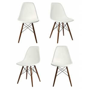 harrison matte solid wood dining chair set of 4