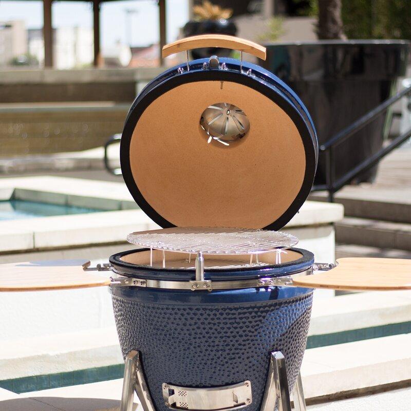 Kamado Charcoal Grill with Smoker