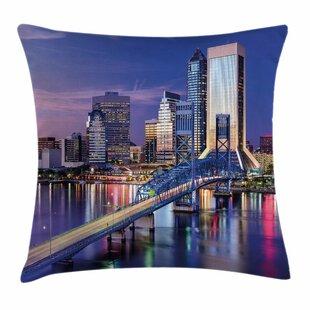 United States Florida Bridge Square Pillow Cover