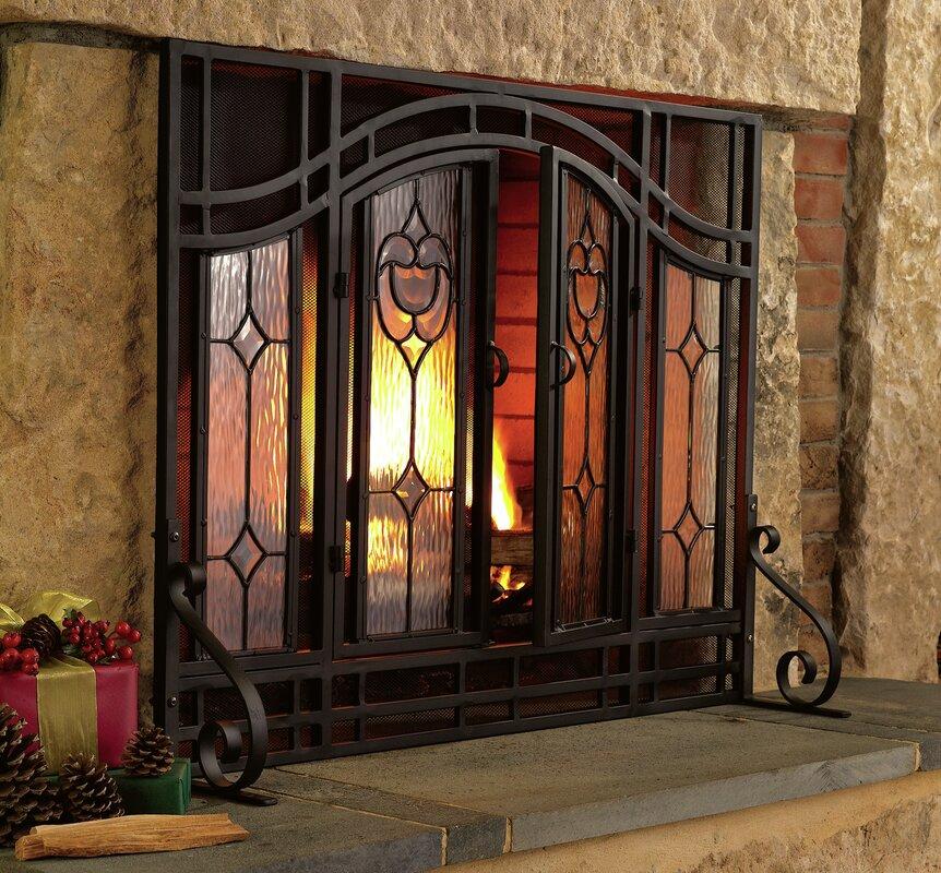 Plow Hearth Single Panel Glass Fireplace Screen Reviews Wayfair