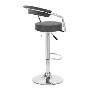Zool Adjustable Height Swivel Bar Stool