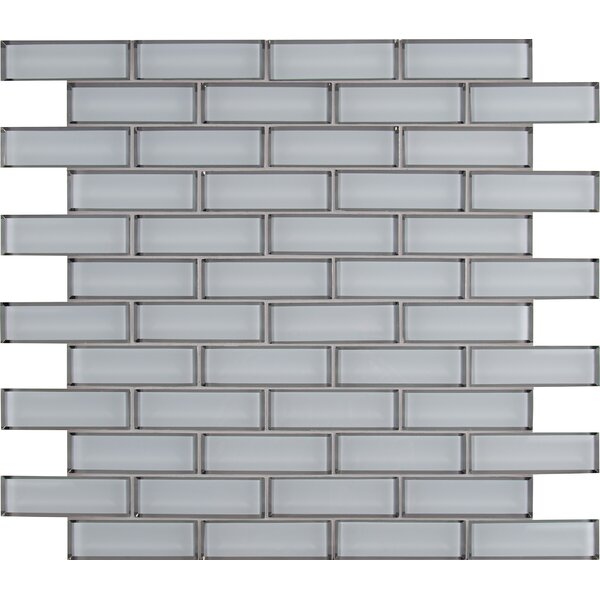 Msi Ice Bevel Mesh Mounted Brick 2 X 6 Glass Subwaymosaic Tile In