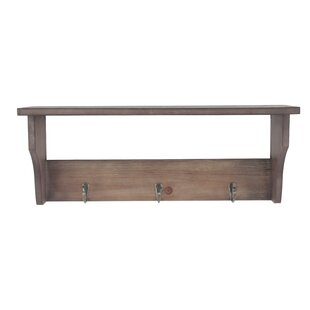 Mango wood mantel shelf