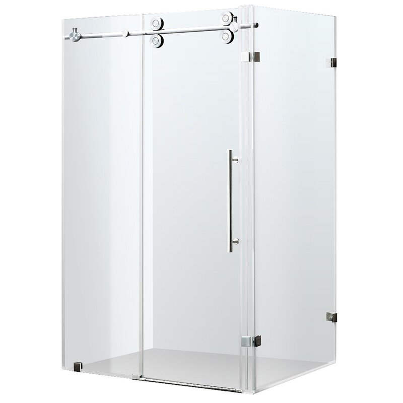 VIGO Winslow 36 x 60-in. Frameless Sliding Shower Enclosure with ...