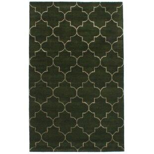 Hartland Hand Tufted Wool Silk Dark Green Area Rug