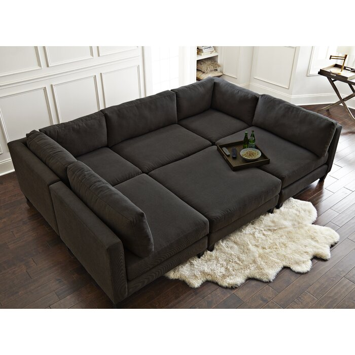 Charmant Chelsea Reversible Sleeper Sectional With Ottoman
