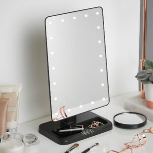 Makeup vanity with lights wayfair led lighted vanity makeup mirror aloadofball Image collections