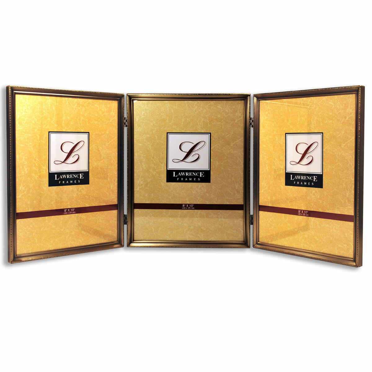 Red Barrel Studio Castleford Bead Hinged Triple Picture Frame ...
