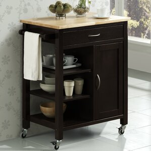 Newfane Theo Kitchen Cart by Three Posts