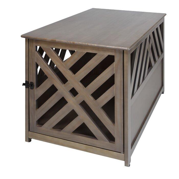 gracie oaks marlatt modern lattice pet crate end table & reviews