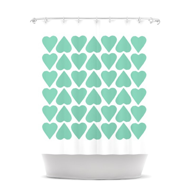 Up and Down Hearts Shower Curtain