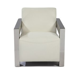 Elida Leather Armchair by Orren Ellis