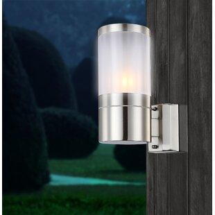 Led outdoor lighting wayfair walnut 1 light outdoor sconce aloadofball Images