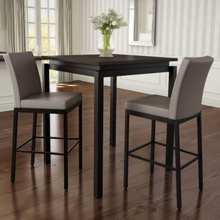 Modern contemporary counter height table sets allmodern huizenga 3 piece counter height pub table set watchthetrailerfo