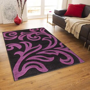 Shayne Black/Pink Area Rug by Longweave