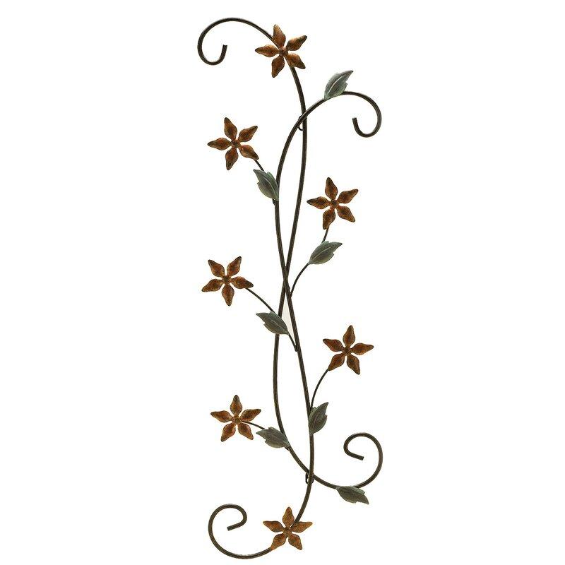 Metal Scroll Wall Decor alcott hill metal floral scroll wall décor & reviews | wayfair