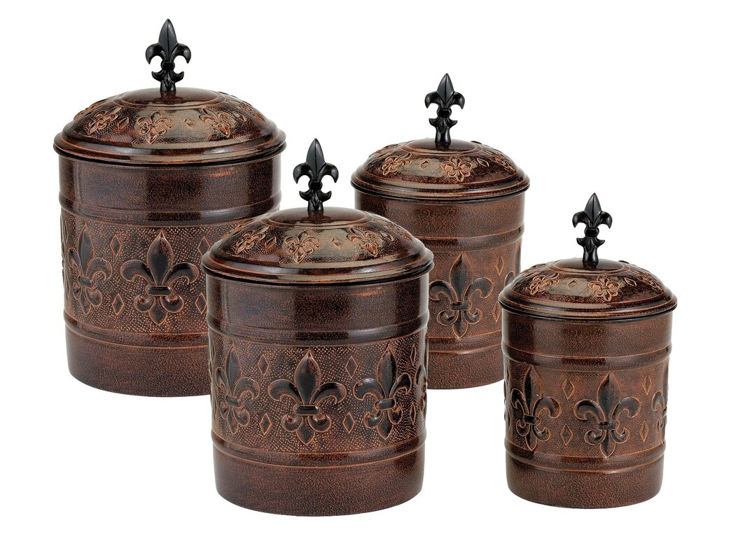 decorative kitchen canister sets old dutch versailles 4 piece kitchen canister set reviews wayfair 319