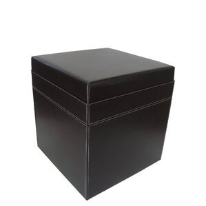 Ottoman with Lid Storage Bin by Organize It All