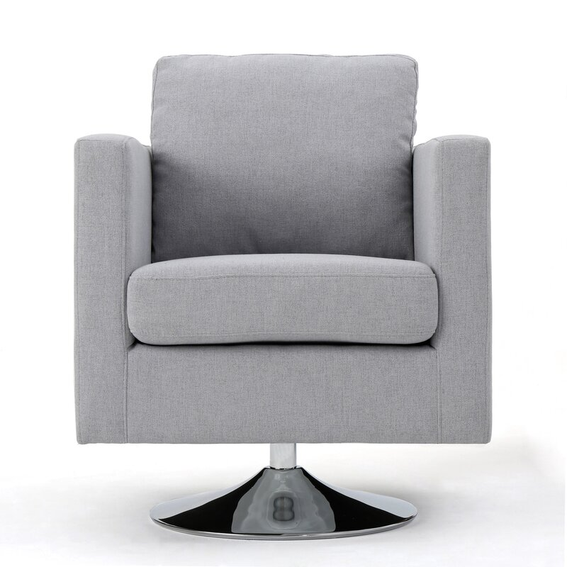 fabric swivel club chairs elsmere fabric swivel club chair amp reviews allmodern 15197 | Elsmere Fabric Swivel Club Chair