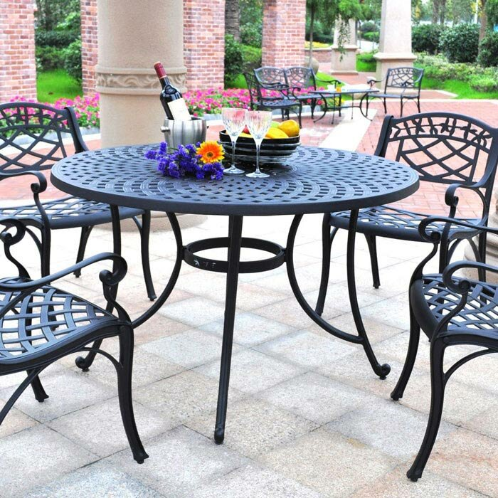 Darby Home Co Lomax 5 Piece Outdoor Dining Set Reviews Wayfair