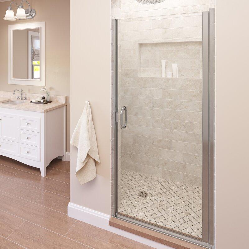 Basco Infinity 28 X 76 Pivot Frameless Shower Door Wayfair