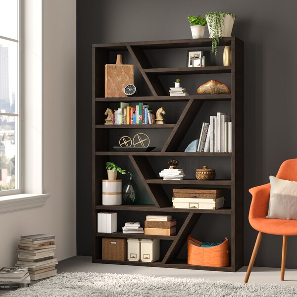 bookcase with glass shelves You\'ll Love in 2019 | Wayfair