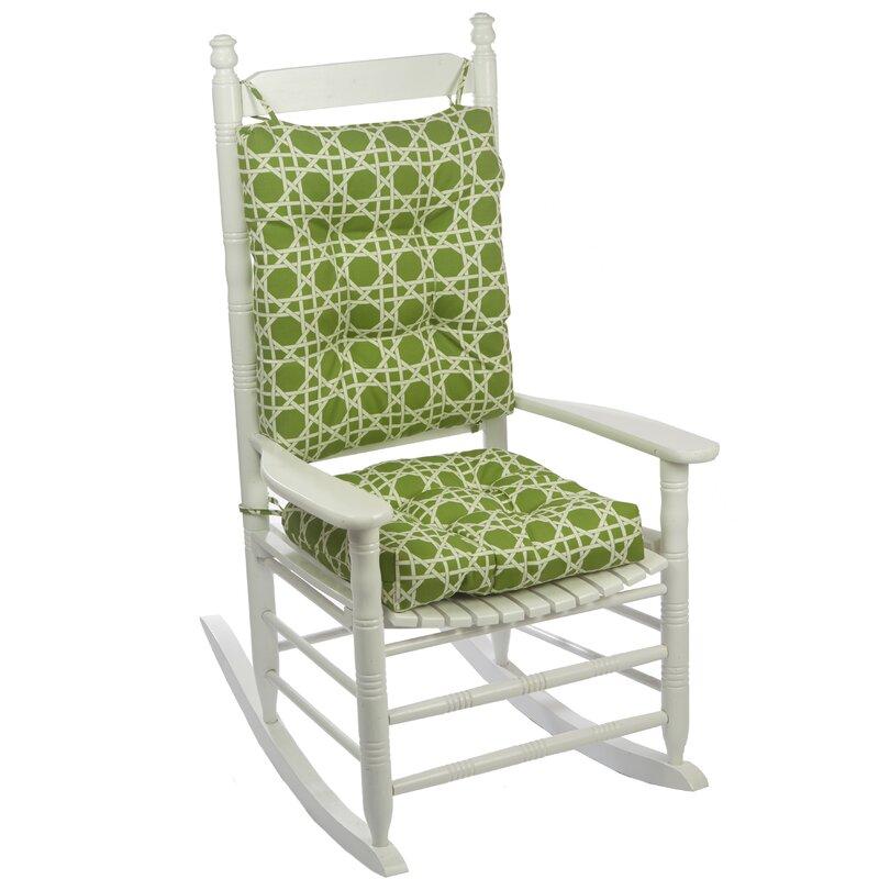 Palm Porch Indoor/Outdoor Rocking Chair Cushion Set