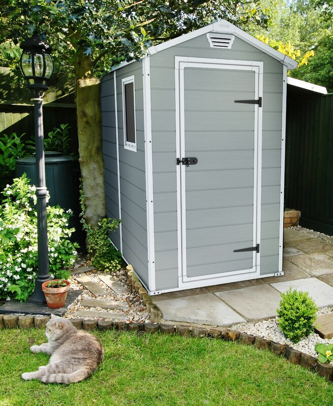 manor 4 ft w x 6 ft 4 in d plastic vertical storage - Garden Sheds 6ft By 4ft