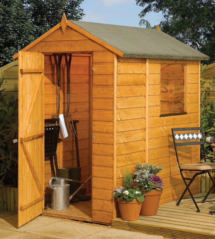Rowlinson 4 Ft W X 6 Ft D Wooden Storage Shed Amp Reviews