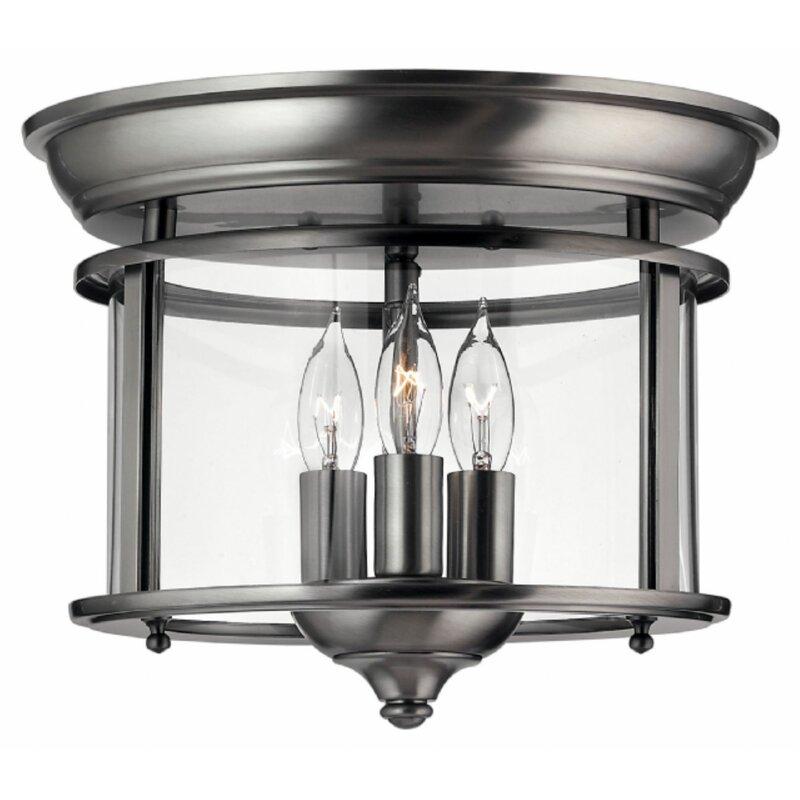 Hinkley lighting gentry 3 light flush mount reviews birch lane gentry 3 light flush mount aloadofball Image collections