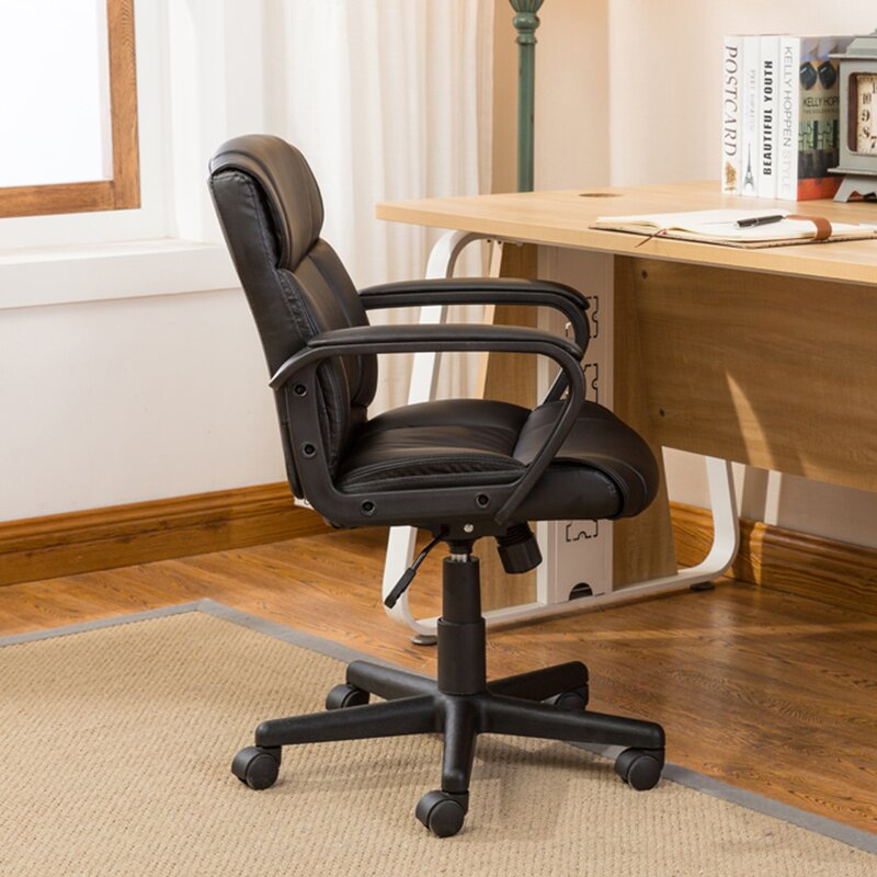Symple Stuff Computer Padded Armrest Mid-Back Office Desk Chair ...