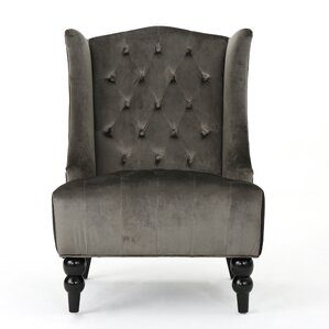 Potterslane High-Back New Velvet Club Chair ..