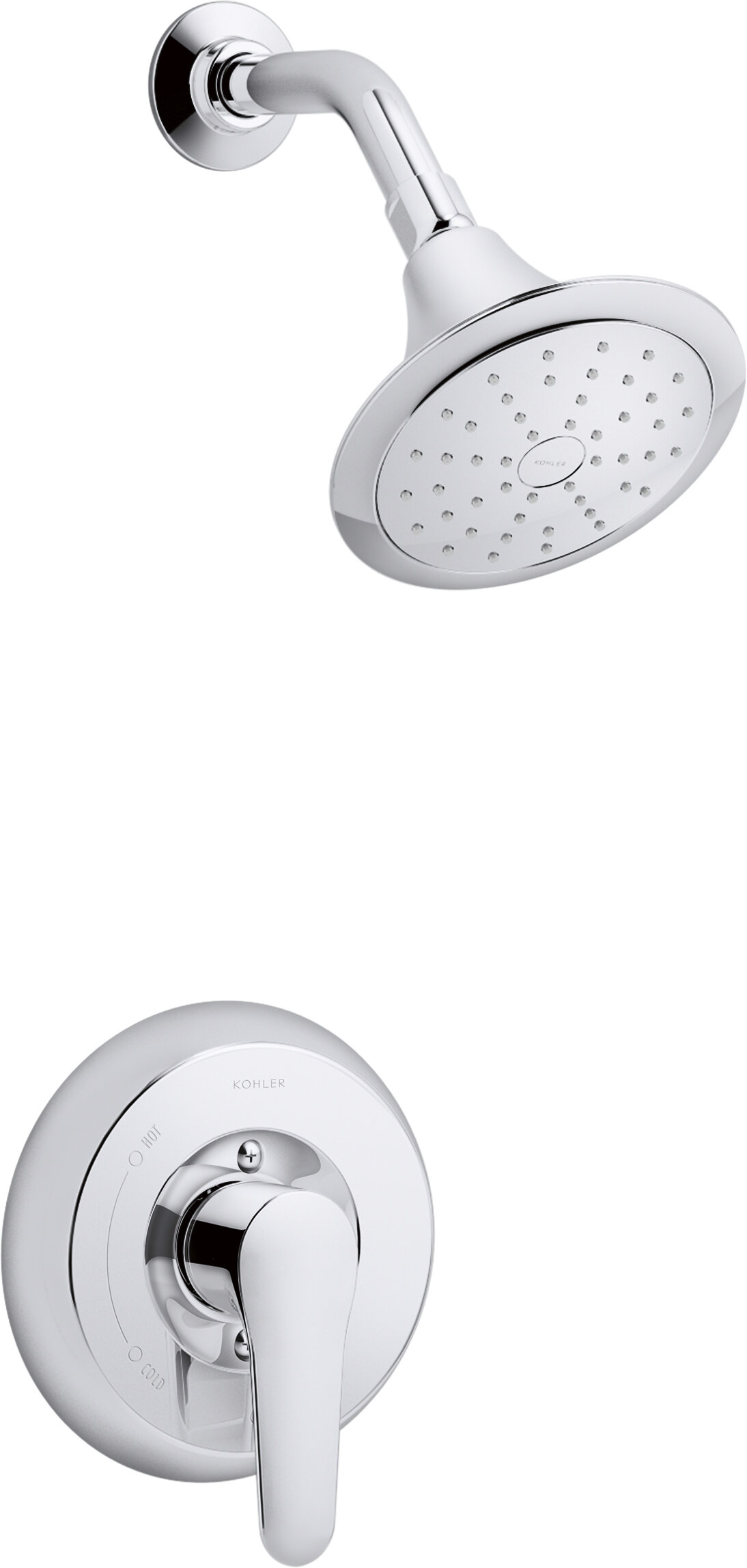 Kohler July Rite Temp Bath And Shower Trim Set With Npt Spout Valve Not Included