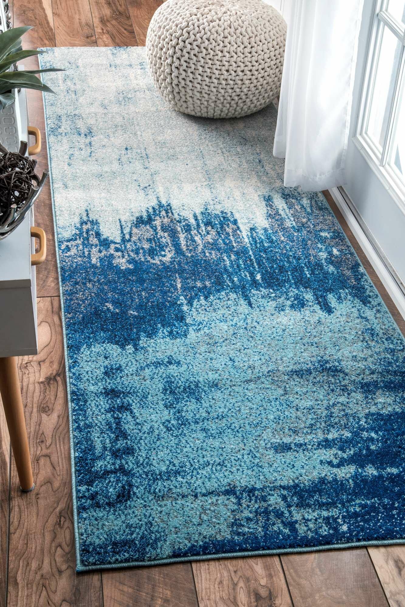 Wrought Studio Gleno Blue Area Rug | Wayfair