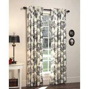 Bouvier Nature/Floral Semi-Sheer Rod Pocket Curtain Panels (Set of 2)